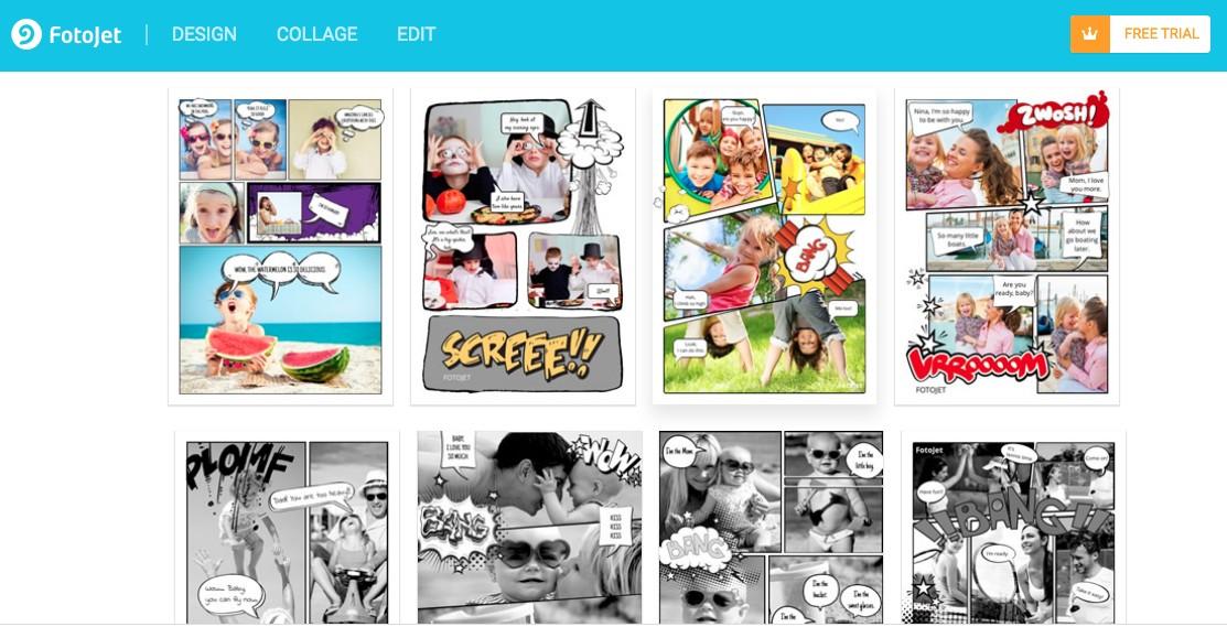 create comic with photo using fotojet