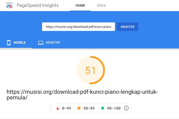 GeneratePress Page Speed with google ads mobile