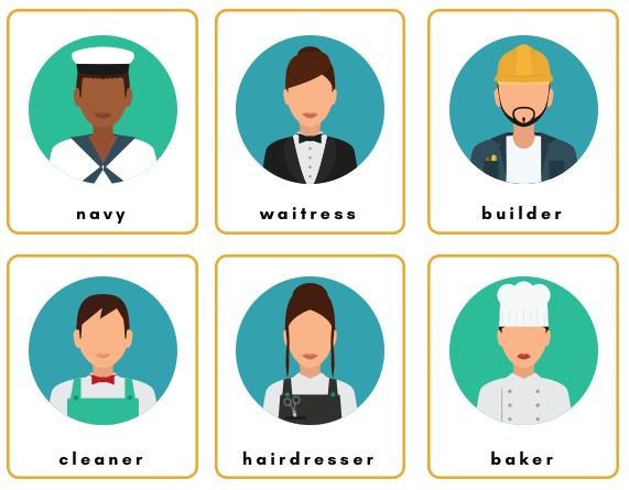 jobs and tools flashcards