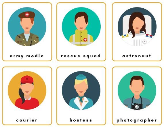 jobs kindergarten flashcards