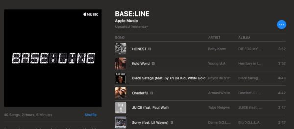 Apple Has Partnered With NBA for Curated Playlist - BASE: LINE