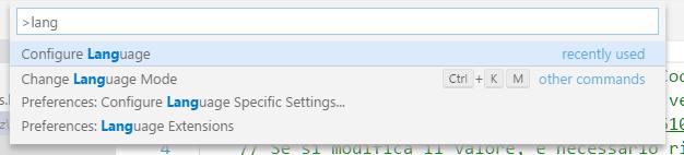 Commande pour configurer la langue de l'interface