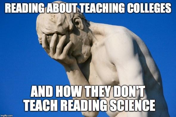 facepalm teaching college meme