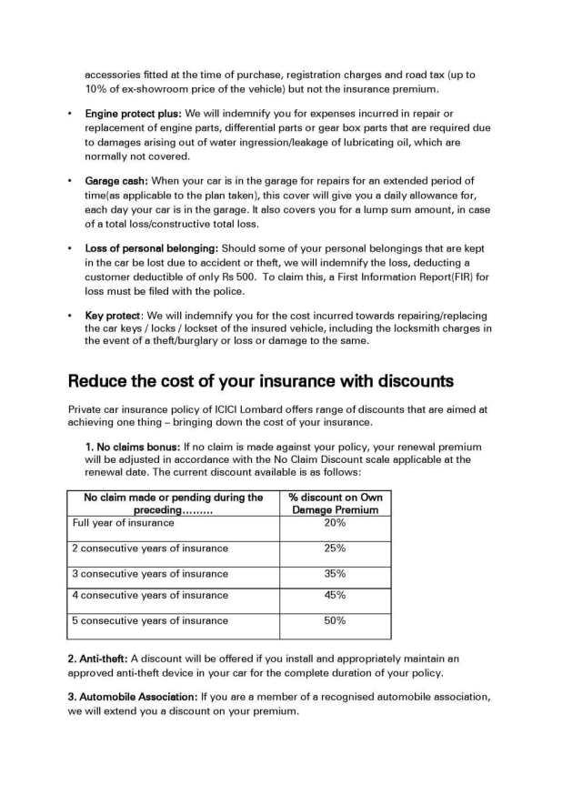 Icici Lombard Motor Vehicle Insurance Impremedia Net