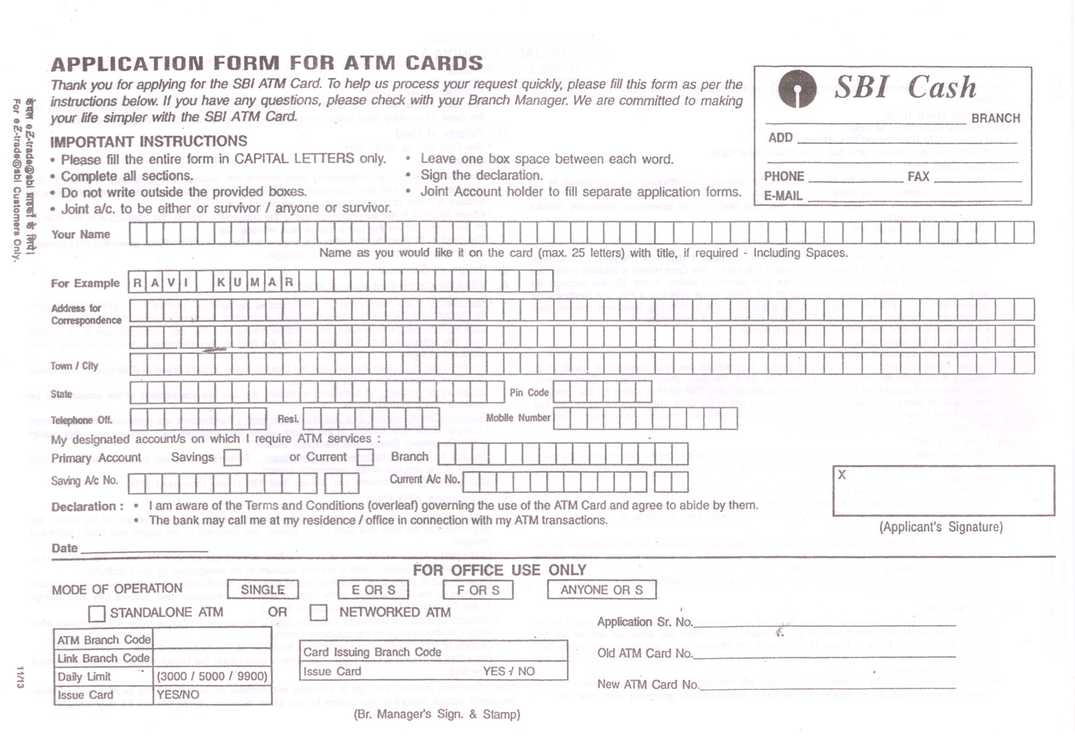 State bank of india atm card application form free download 17782681 sbi atm card application form status poemviewco altavistaventures Choice Image