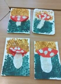 Ryżowo - bąbelkowy muchomor Izabela Kowalska Jesień (Prace plastyczne) Prace plastyczne