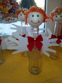 Aniołek z butelki Dzień Anioła Kreatywnie z dzieckiem Monika Okoń Postacie