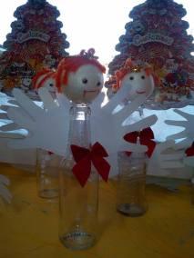 Aniołek z butelki Dzień Anioła Monika Okoń Postacie (Prace plastyczne) Prace plastyczne