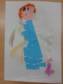 Aniołki - prace plastyczne Dzień Anioła Kreatywnie z dzieckiem Marlena Wrońska Postacie Prace plastyczne Święta