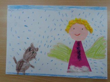 Aniołki - prace plastyczne Dzień Anioła Marlena Wrońska Postacie (Prace plastyczne) Prace plastyczne Prace plastyczne (Boże Narodzenie) Święta