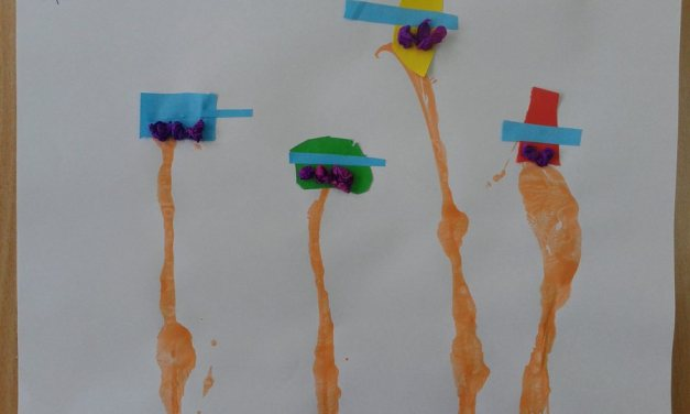 Baloniki z wełny i kolorowego papieru