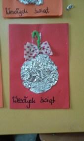 Kartki świąteczne - Bombki Boże Narodzenie Kreatywnie z dzieckiem Monika Okoń Prace plastyczne (Boże Narodzenie) Święta Zima