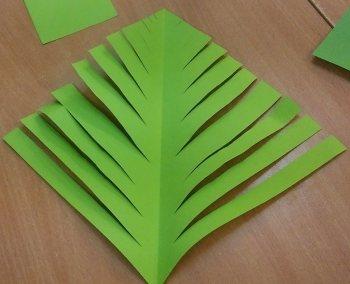 Choinka 3D wersja 2 Dzień Drzewa Dzień Ochrony Środowiska Dzień Ziemi Izabela Kowalska Kreatywnie z dzieckiem Święta Zima