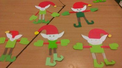 Elfy Izabela Kowalska Prace plastyczne Święta Zima (Prace plastyczne)