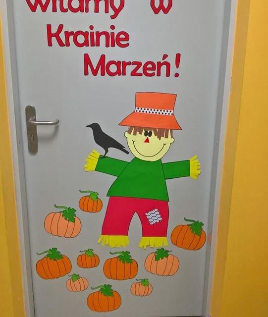 Jesienna dekoracja drzwi