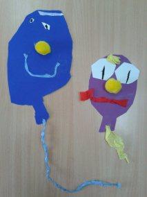 Karnawał - wycinane balony Karnawał Marlena Wrońska Prace plastyczne Prace plastyczne (Karnawał) Święta