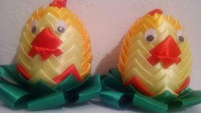 Kurczaki ze wstążek Dominika Kobylak Kreatywnie z dzieckiem Prace plastyczne (Dzień Zwierząt) Prace plastyczne (Wielkanoc) Światowy Dzień Zwierząt Wielkanoc Zwierzęta