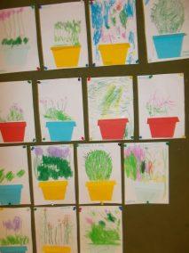 Kwiat w doniczce Dzień Edukacji Narodowej Joanna Chorabik Prace plastyczne Prace plastyczne (Dzień Edukacji Narodowej) Rośliny (Prace plastyczne) Wiosna (Prace plastyczne)