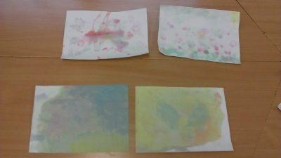 Łąka malowana bańkami Dzień Chemika Izabela Kowalska Lato Prace plastyczne Prace plastyczne (Lato) Wiosna (Prace plastyczne)