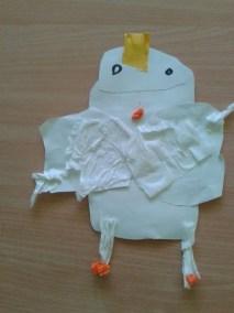 Orzeł biały z odrysowanych rączek Dzień Koloru Białego Marlena Wrońska Prace plastyczne Prace plastyczne (Święto Niepodległości) Święto Niepodległości Zwierzęta (Prace plastyczne)