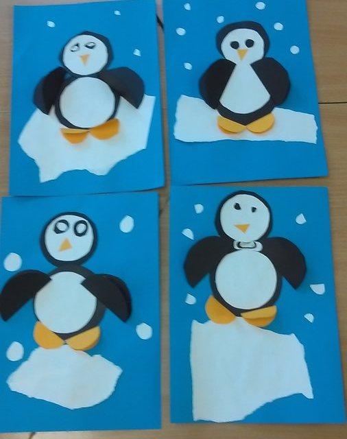 Pingwinki w mroźnej krainie z kółek