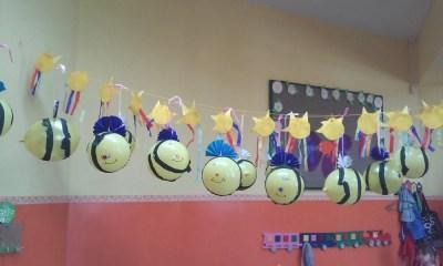 Pszczoły z balona Jesień Karnawał Kreatywnie z dzieckiem Lato Monika Okoń Prace plastyczne (Wiosna) Wiosna Zwierzęta
