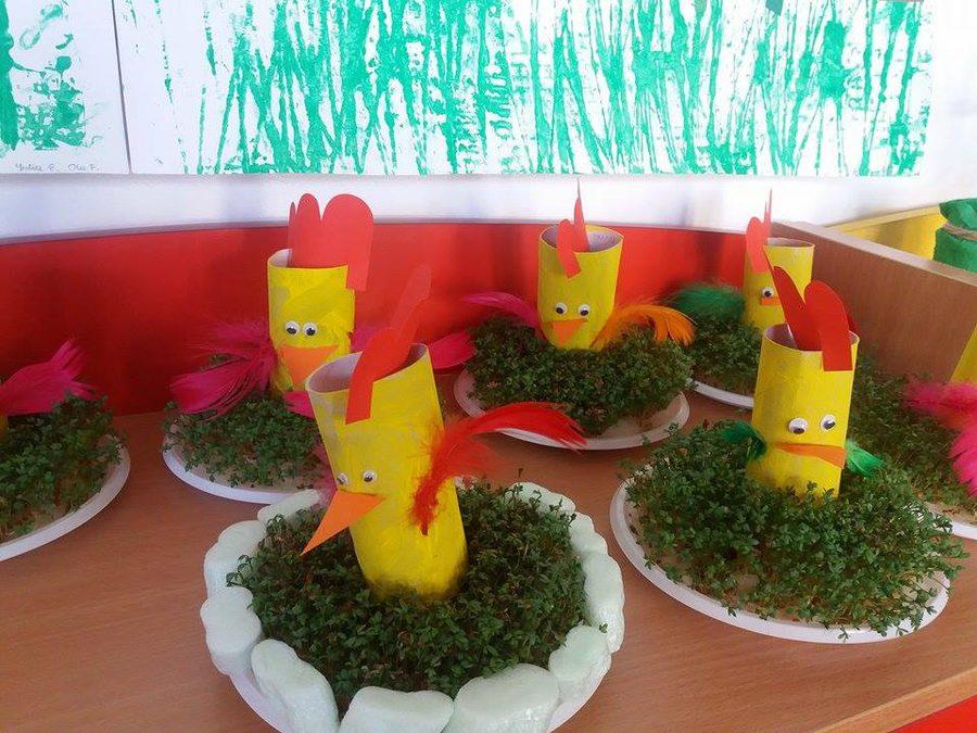 Kurczaczek z rolki Joanna Lewandowska Kreatywnie z dzieckiem Prace plastyczne Prace plastyczne Światowy Dzień Zwierząt Wielkanoc Zwierzęta