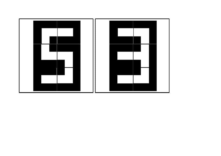 Cyfry - układanka Ania Jóźwina Dzień Matematyki Matematyka Pomoce dydaktyczne Zabawy matematyczne (Dzień Matematyki)