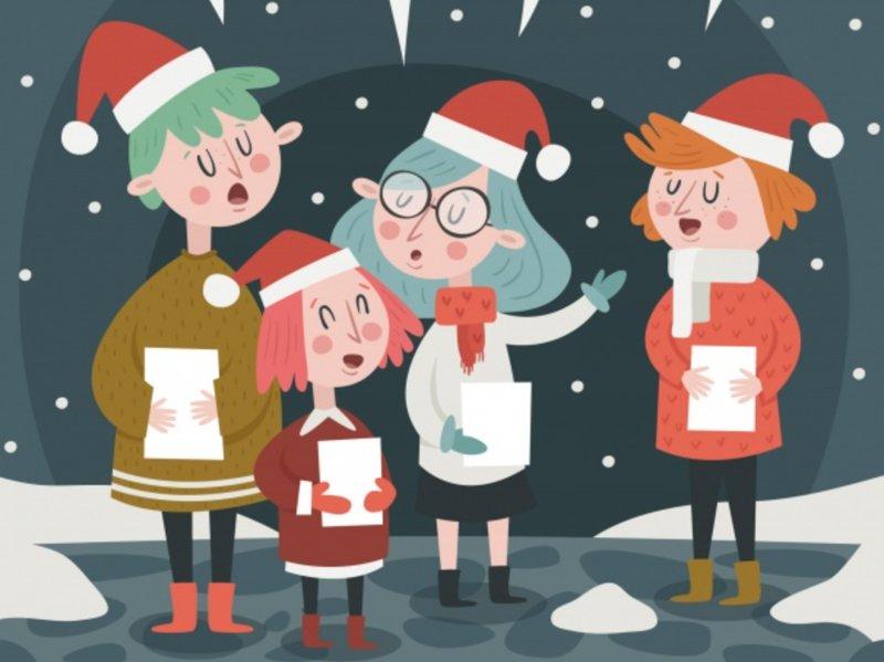 Kolędnicy Agata Dziechciarczyk Boże Narodzenie (Wierszyki) Religijne (Wierszyki) Wierszyki
