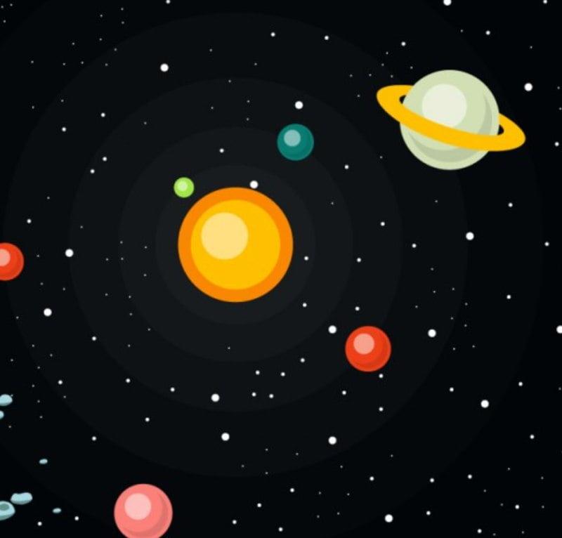 Kolory planet Agata Dziechciarczyk Dzień Lotnictwa i Kosmonautyki Kosmos i planety (Wierszyki) Wierszyki