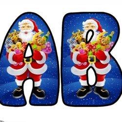 Litery małe: wzór szopka Bożonarodzeniowe Litery i cyfry do tworzenia napisów