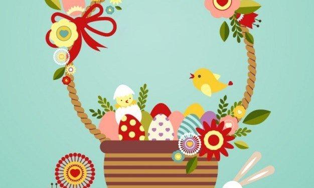 Wielkanocne symbole w koszyku
