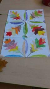 Cienie z liści Izabela Kowalska Jesień Jesień (Prace plastyczne) Prace plastyczne Prace plastyczne (Jesień) Prace plastyczne (Święto Dyni / Halloween)