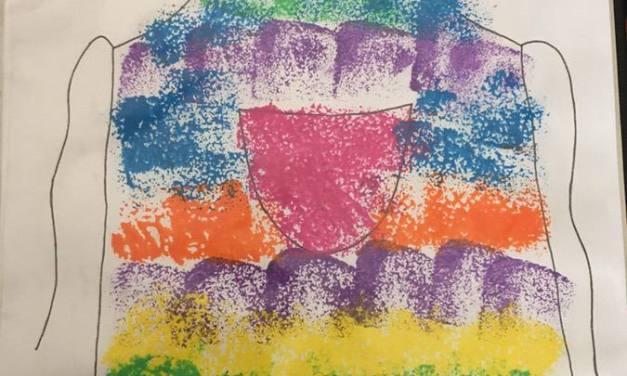 Kolorowy fartuszek