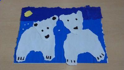 Dzień Niedźwiedzia Polarnego z bibuły Dzień Koloru Białego Dzień Niedźwiedzia Polarnego Izabela Kowalska Prace plastyczne Prace plastyczne (Dzień Niedźwiedzia Polarnego) Zwierzęta (Prace plastyczne)