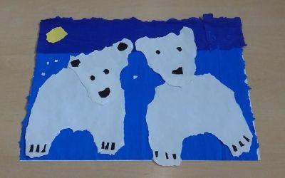 Dzień Niedźwiedzia Polarnego z bibuły