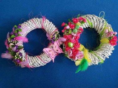 Wiosenne Wianki Dominika Kobylak Prace plastyczne Prace plastyczne (Wielkanoc) Wielkanoc (Prace plastyczne) Wiosna (Prace plastyczne)