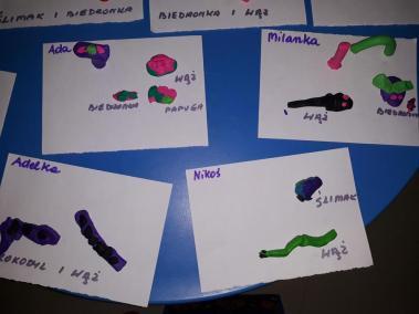 Zwierzęta z plasteliny (ćwiczenie motoryki małej) Kreatywnie z dzieckiem Małgorzata Wojkowska Prace plastyczne Światowy Dzień Zwierząt Zwierzęta