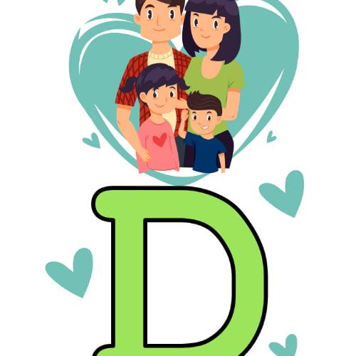 Napis Dzień Rodziny z wesołą rodziną Dzień Rodziny Napisy (Dzień Rodziny)