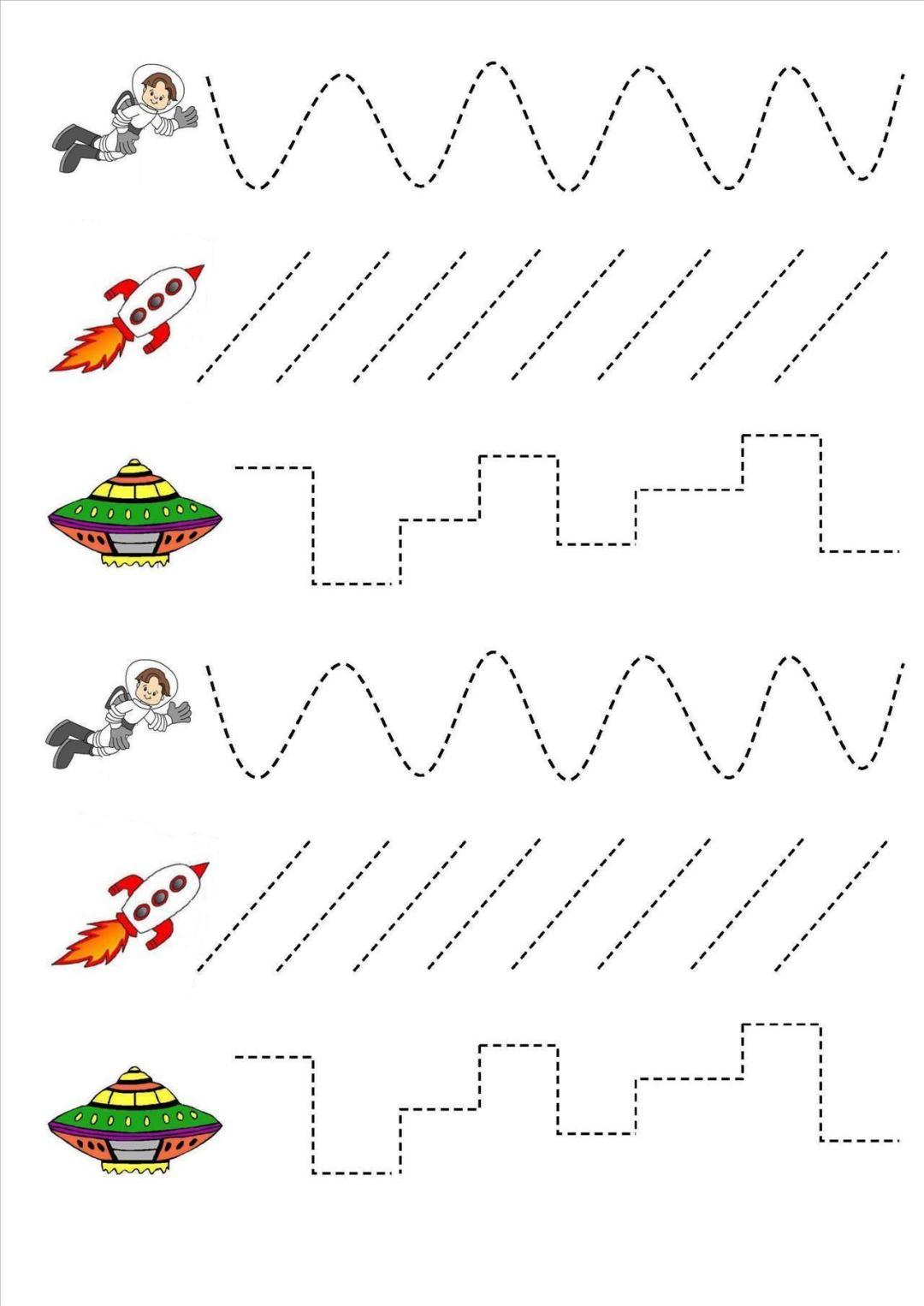 Dzień Kosmosu - karty pracy Dzień Kosmosu Dzień Lotnictwa i Kosmonautyki Małgorzata Wojkowska Prace plastyczne Prace plastyczne (Dzień Astronomii)