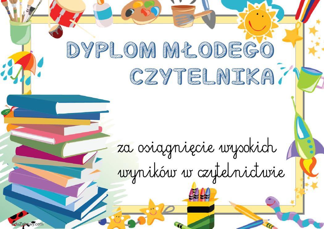 Dyplomy młodego czytelnika (poziome) Dyplomy Okolicznościowe