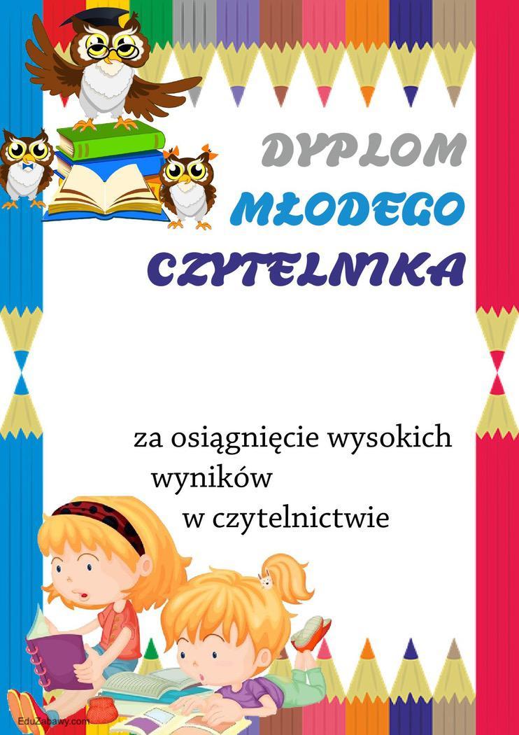 Dyplomy młodego czytelnika (pionowe) Dyplomy