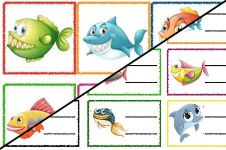 Znaczki przedszkolne – Podwodny świat