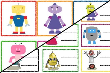 Znaczki przedszkolne – Roboty