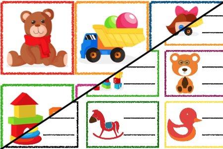 Znaczki przedszkolne – Zabawki