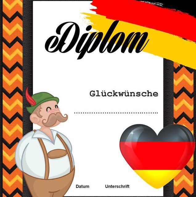 Dyplom za osiągnięcia z języka niemieckiego