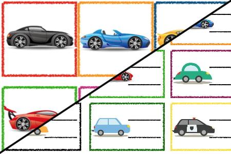 Znaczki przedszkolne – Transport