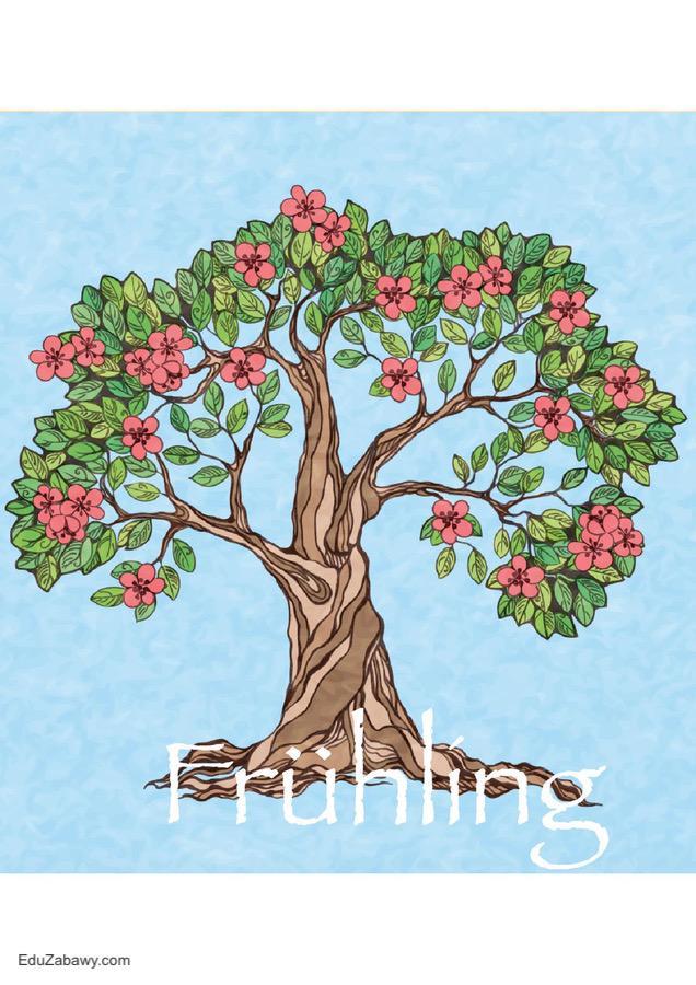 Pory roku – plakaty pionowe (wersja niemiecka) Jesień Pory roku - plakaty Święta i pory roku Wrzesień