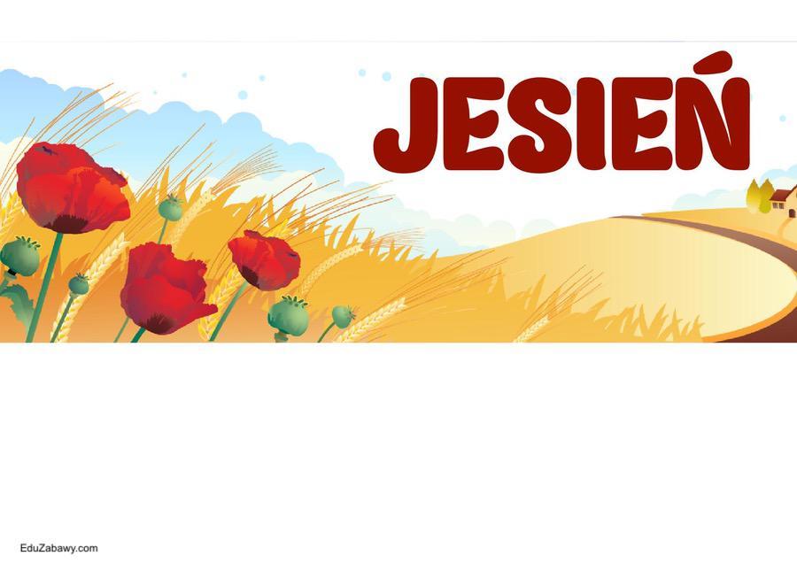 Pory roku - plakaty poziome Jesień Pory roku - plakaty Święta i pory roku Wrzesień