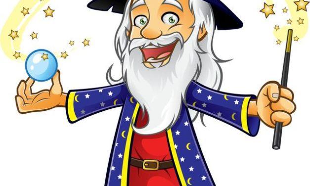 Dekoracje andrzejkowe: czarodziejki i czarodzieje
